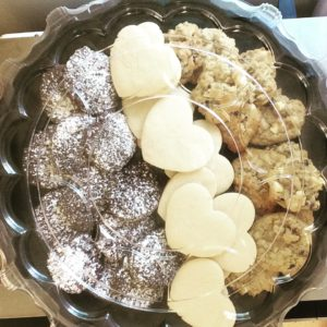 Cookie plate with a few of the cookies described